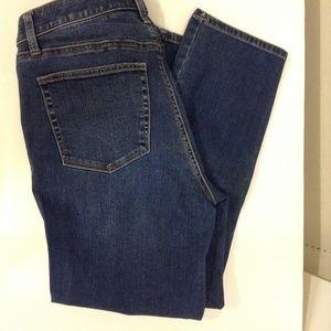 Talbots size 6 Straight Crop Legs Blue Jeans